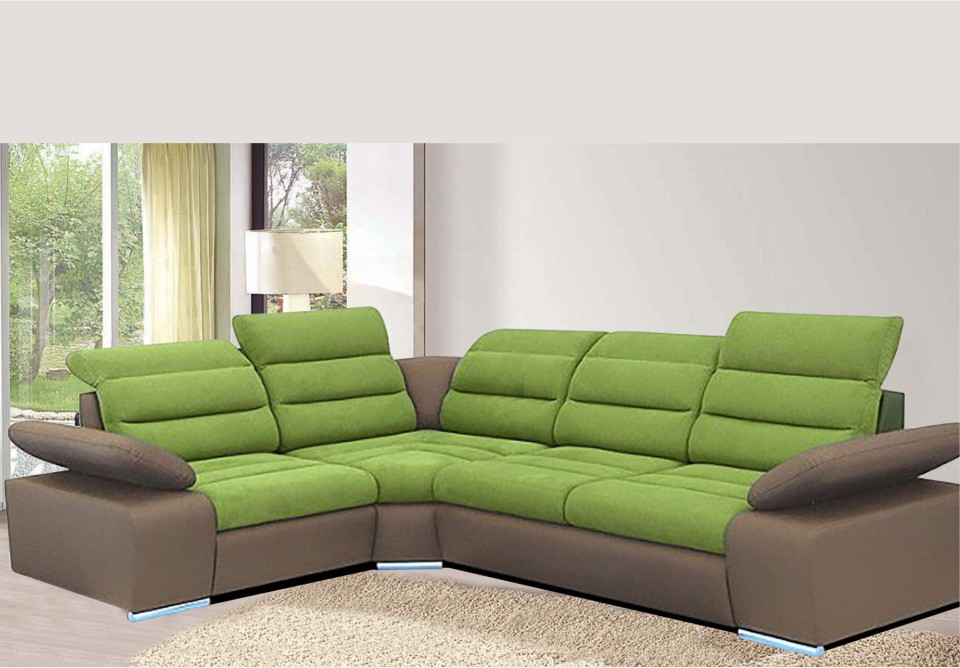 Corfu mini kutna garnitura zelena