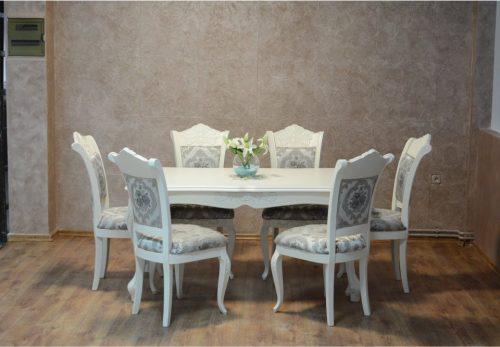 DUBAI stilski blagovaonski stol i stolice