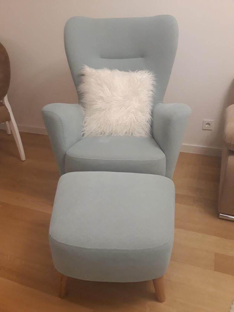 NEXTE fotelja s podnoškom